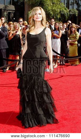 Kyra Sedgwick attends the 59th Annual Primetime Emmy Awards held at the Shrine Auditorium in Los Angeles, California, United States on September 16, 2007.