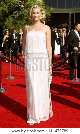 Rebecca Romijn attends the 59th Annual Primetime Emmy Awards held at the Shrine Auditorium in Los Angeles, California, United States on September 16, 2007.