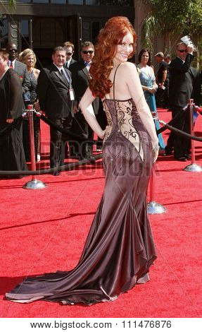 Phoebe Price attends the 59th Annual Primetime Emmy Awards held at the Shrine Auditorium in Los Angeles, California, United States on September 16, 2007.