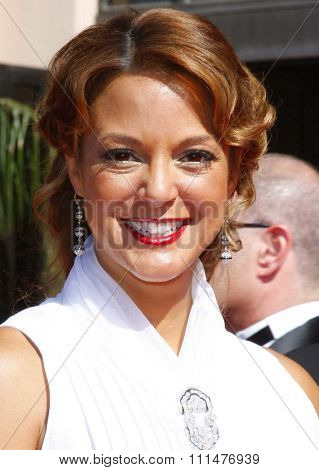 Eva La Rue attends the 59th Annual Primetime Emmy Awards held at the Shrine Auditorium in Los Angeles, California, United States on September 16, 2007.