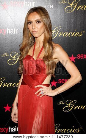 Giuliana Rancic at the 37th Annual Gracie Awards Gala held at the Beverly Hilton Hotel in Beverly Hills on May 22, 2012.