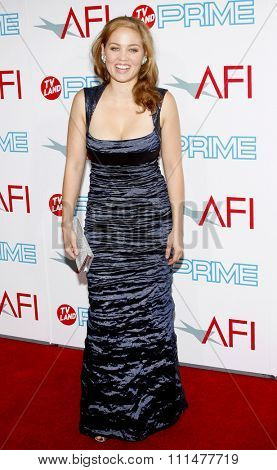 Erika Christensen at the 37th AFI Lifetime Achievement Award: A Tribute to Michael Douglas held at the Sony Pictures Studios in Culver City on June 11, 2009.