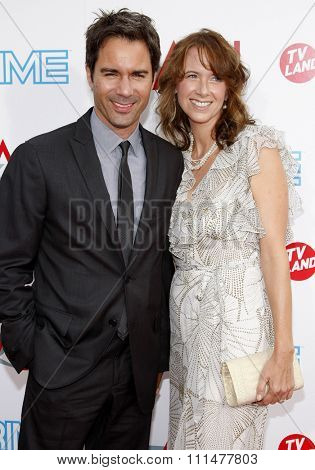 Eric McCormack and Janet Holden at the 37th AFI Lifetime Achievement Award: A Tribute to Michael Douglas held at the Sony Pictures Studios in Culver City on June 11, 2009.