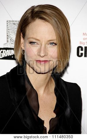 Jodie Foster at the 25th American Cinematheque Award held at the Beverly Hilton hotel in Beverly Hills on October 14, 2011.
