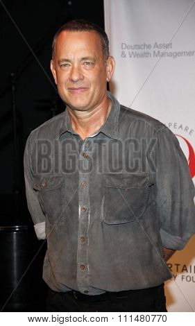 Tom Hanks at the 23rd Annual Simply Shakespeare held at the Broad Stage in Los Angeles on September 25, 2013 in Los Angeles, California.