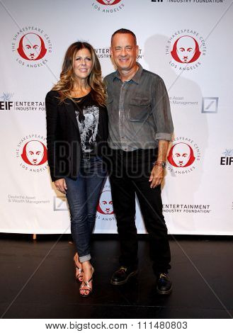 Tom Hanks and Rita Wilson at the 23rd Annual Simply Shakespeare held at the Broad Stage in Los Angeles on September 25, 2013 in Los Angeles, California.