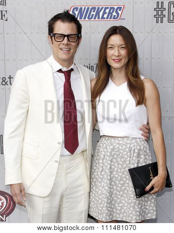 Johnny Knoxville and Naomi Nelson at the Spike TV's 'Guys Choice 2014' held at the Sony Pictures Studios in Los Angeles on June 7, 2014 in Los Angeles, California.