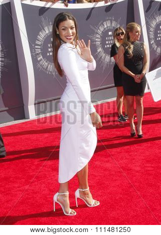 Jordin Sparks at the 2014 MTV Video Music Awards held at the Forum in Los Angeles on August 24, 2014 in Los Angeles, California.