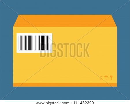 Move service yellow box pack vector illustration