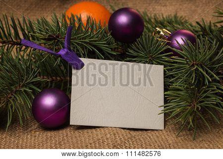 Postcard, Orange Tangerines, Fir-cones, Christmas Decorations