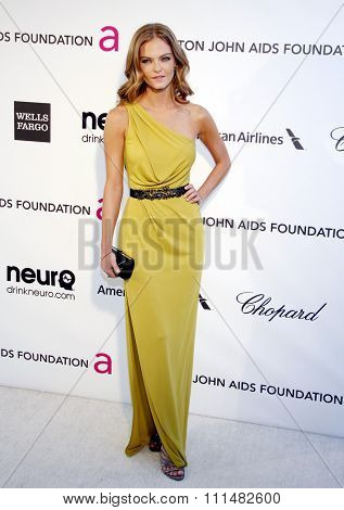 Jessica Perez at the 21st Annual Elton John AIDS Foundation Academy Awards Viewing Party held at the Pacific Design Center in West Hollywood on February 24, 2013 .
