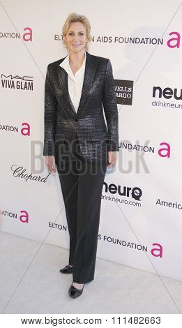 Jane Lynch at the 21st Annual Elton John AIDS Foundation Academy Awards Viewing Party held at the Pacific Design Center in West Hollywood on February 24, 2013.