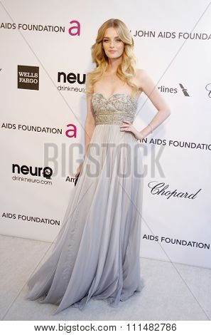 Lydia Hearst at the 21st Annual Elton John AIDS Foundation Academy Awards Viewing Party held at the Pacific Design Center in West Hollywood on February 24, 2013.