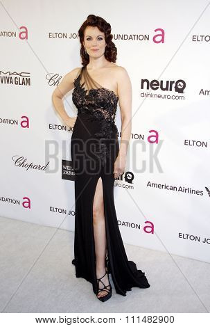 Bellamy Young at the 21st Annual Elton John AIDS Foundation Academy Awards Viewing Party held at the Pacific Design Center in West Hollywood on February 24, 2013.