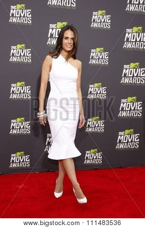 Jordana Brewster at the 2013 MTV Movie Awards at the Sony Pictures Studios on April 14, 2013 in Los Angeles, California.