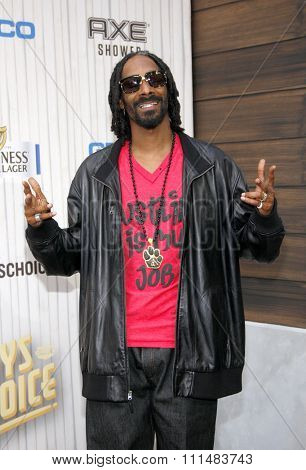 Snoop Dogg at the 2013 Spike TV Guys Choice Awards held at the Sony Pictures Studios in Culver City in Los Angeles, United States, 080613.