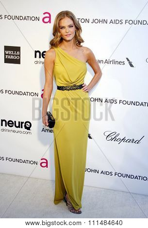 Jessica Perez at the 21st Annual Elton John AIDS Foundation Academy Awards Viewing Party held at the Pacific Design Center in West Hollywood on February 24, 2013.