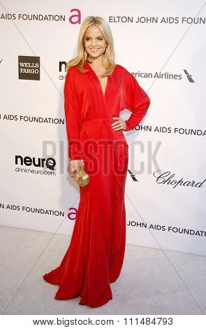 Mena Suvari at the 21st Annual Elton John AIDS Foundation Academy Awards Viewing Party held at the Pacific Design Center in West Hollywood on February 24, 2013.
