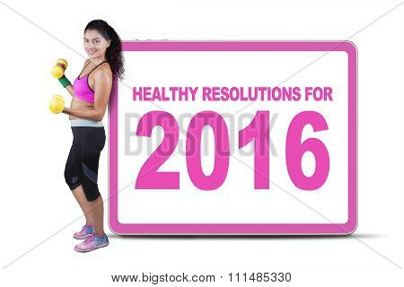 Healthy Woman With Resolution For 2016