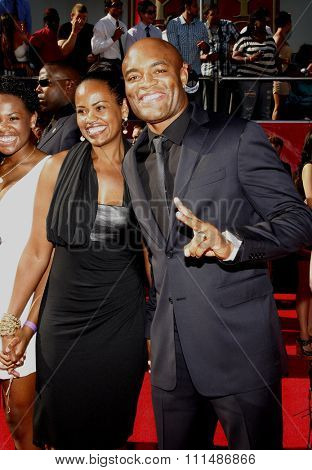Anderson Silva at the 2012 ESPY Awards held at the Nokia Theatre L.A. Live in Los Angeles on July 11, 2012.