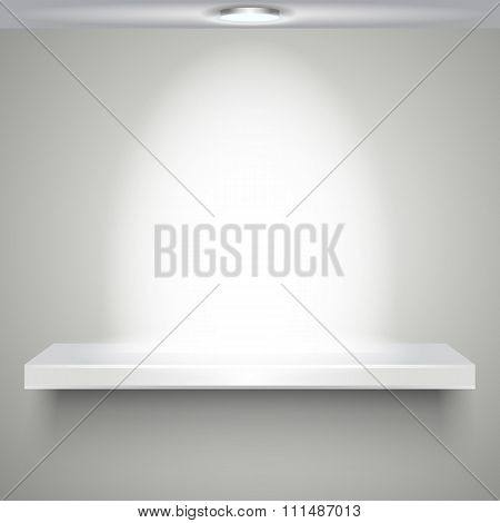 white shelve with illumination