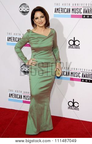 Gloria Estefan at the 40th Anniversary American Music Awards held at the Nokia Theatre L.A. Live in Los Angeles, United States, 181112.