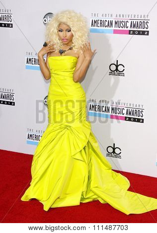 Nicki Minaj at the 40th Anniversary American Music Awards held at the Nokia Theatre L.A. Live in Los Angeles, United States, 181112.