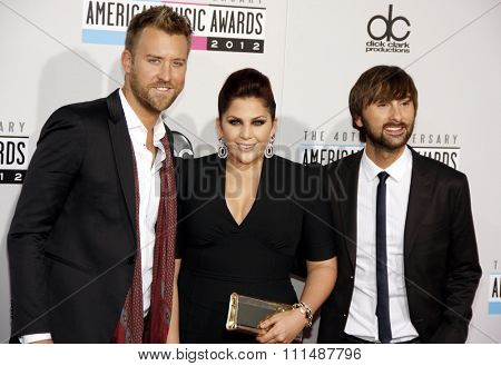 Lady Antebellum at the 40th Anniversary American Music Awards held at the Nokia Theatre L.A. Live in Los Angeles, United States, 181112.