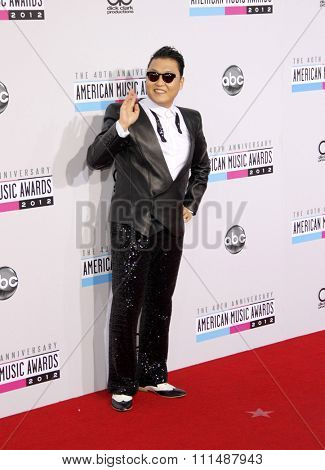 PSY at the 40th Anniversary American Music Awards held at the Nokia Theatre L.A. Live in Los Angeles, United States, 181112.