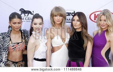 Hailee Steinfeld, Zendaya Coleman, Taylor Swift, Lily Aldridge and Martha Hunt at the 2015 Billboard Music Awards held at the MGM Garden Arena in Las Vegas, USA on May 17, 2015.