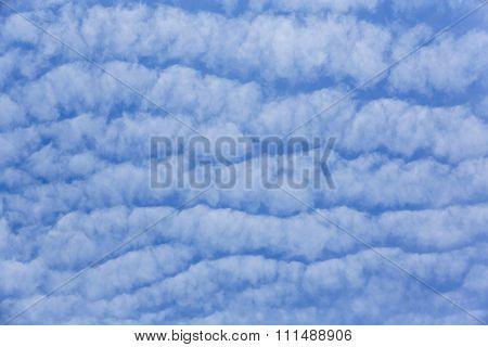 Blue Sky With Wave Cloud - Samut Sakhon Thailand