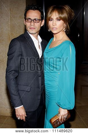 Jennifer Lopez and Marc Anthony at the 2009 Noche de Ninos Gala held at the Beverly Hilton Hotel in Beverly Hills on May 9, 2009.