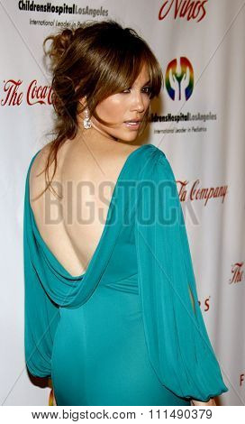 Jennifer Lopez at the 2009 Noche de Ninos Gala held at the Beverly Hilton Hotel in Beverly Hills on May 9, 2009.