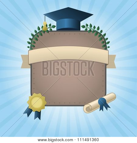 Graduation Certificate Template With Empty Space