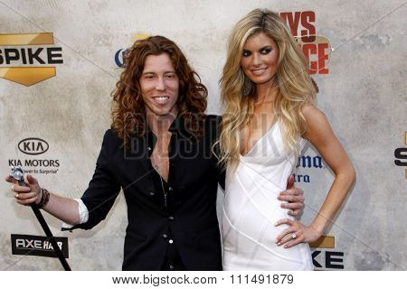 Marisa Miller and Shaun White at the 2010 Spike TV's Guys Choice Awards held at the Sony Pictures Studios in Culver City on June 5, 2010.