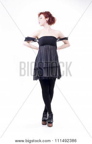 Isolated Elegant Woman