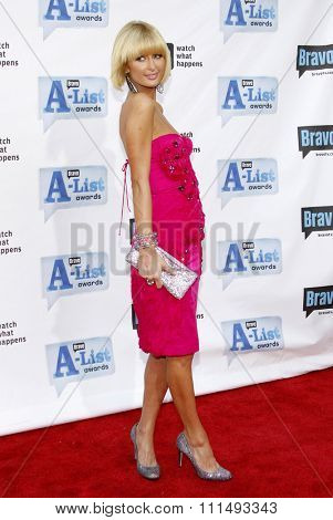 Paris Hilton at the 2009 Bravo's A-List Awards held at the Orpheum Theatre in Los Angeles on April 5, 2009.