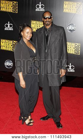 Snoop Dogg at the 2009 American Music Awards held at the Nokia Theater in Los Angeles on November 22, 2009.