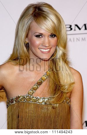 Carrie Underwood at the 2008 Sony/BMG Grammy After Party held at the Beverly Hills Hotel in Beverly Hills on February 10, 2008.