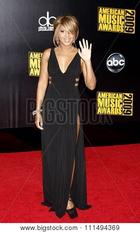 Toni Braxton at the 2009 American Music Awards held at the Nokia Theater in Los Angeles on November 22, 2009.