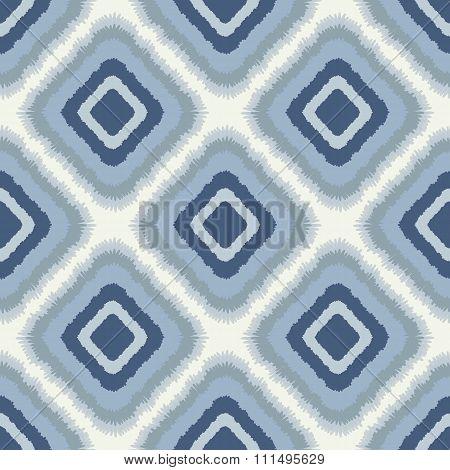 Ornamental Rhombus Pattern, Scribble Texture, Ethnic Style