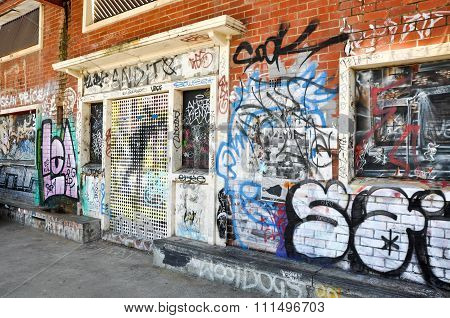 Graffiti Display: Fremantle, Western Australia
