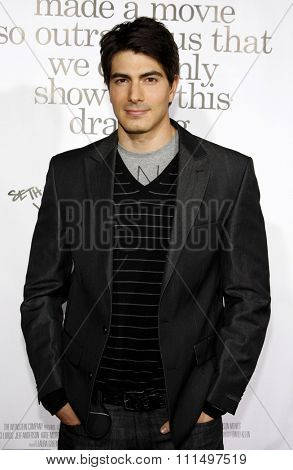 Brandon Routh at the Los Angeles premiere of 'Zack And Miri Make A Porno' held at the Grauman's Chinese Theater in Hollywood on October 20, 2008.