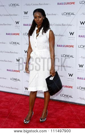 Tasha Smith at the Los Angeles premiere of 'Vicky Cristina Barcelona' held at the Mann Village Theatre in Westwood on August 4, 2008.