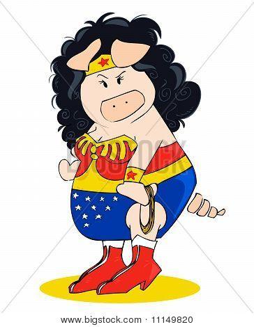 Superheroine Schwein.