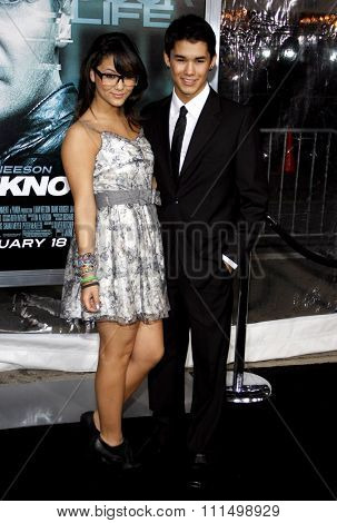 BooBoo Stewart and Fivel Stewart at the Los Angeles premiere of 'Unknown' held at the Mann Village Theatre in Westwood on February 16, 2011.