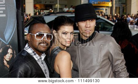 apl.de.ap, Fergie and Taboo at the Los Angeles premiere of 'X-Men Origins: Wolverine' held at the Grauman's Chinese Theatre in Hollywood on April 28, 2009.