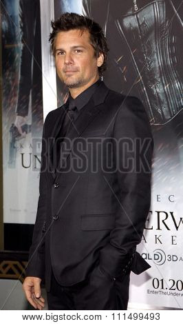 Len Wiseman at the Los Angeles premiere of 'Underworld Awakening' held at the Grauman's Chinese Theatre in Hollywood on January 19, 2012.