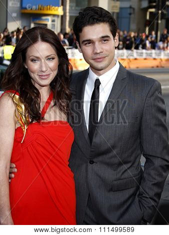 Lynn Collins and Steven Strait at the Los Angeles premiere of 'X-Men Origins: Wolverine' held at the Grauman's Chinese Theatre in Hollywood on April 28, 2009.