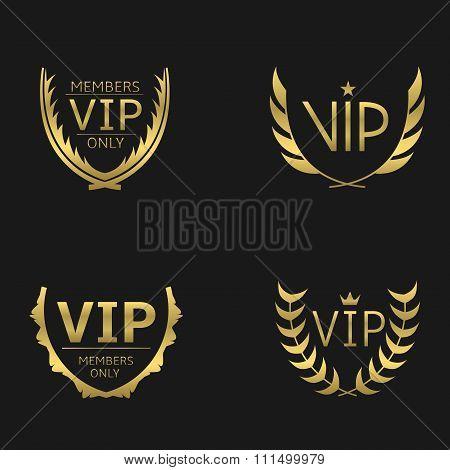 Golden VIP wreaths